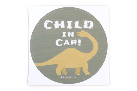 kikka for mother(キッカフォーマザー)  Stylish! カーステッカー CHILD IN CAR ダイナソー(ブラキオサウルス) 商品画像