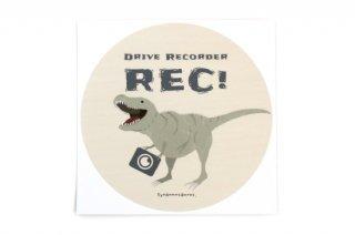 Stylish! カーステッカー Drive Recorder ダイナソー(ティラノサウルス)