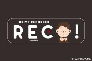 TSUMUPAPA(つむぱぱ) カーステッカー Drive Recorder(ドライブレコーダー)