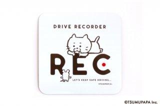 TSUMUPAPA(つむぱぱ) カーマグネット  Drive Recorder(ドライブレコーダー)