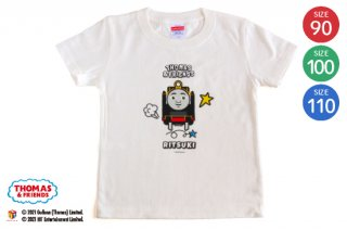 <img class='new_mark_img1' src='https://img.shop-pro.jp/img/new/icons14.gif' style='border:none;display:inline;margin:0px;padding:0px;width:auto;' />THOMAS&FRIENDS(きかんしゃトーマス)名入れができるTシャツ(ヒロ) SIZE:90・100・110