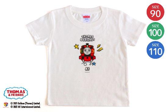 kikka for mother(キッカフォーマザー)  THOMAS&FRIENDS(きかんしゃトーマス)名入れができるTシャツ(ニア) SIZE:90・100・110 商品画像