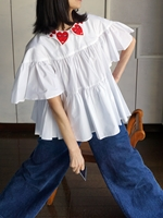 vivetta smile heart face blouse
