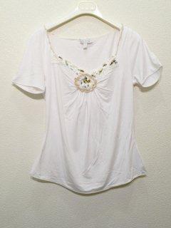 DIKTON'S エリ刺繍カットソー ★sale 50%OFF
