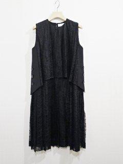 AKIRA NAKA アキラナカ レイヤードプリーツレースドレス★sale 30%OFF