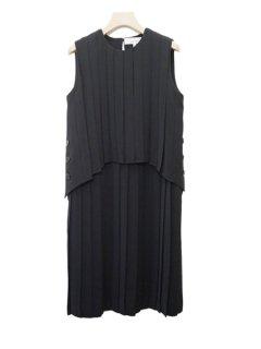 AKIRA NAKA アキラナカ レイヤードプリーツドレス ★