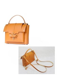 10%OFF★niels peeraer ニールス ペラール BOW  BACKPACK Msize (caramel)