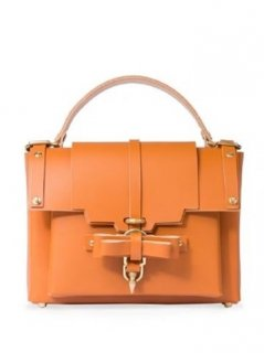 niels peeraer ニールス ペラール BOW BUCKLE BAG Lsize(caramel)
