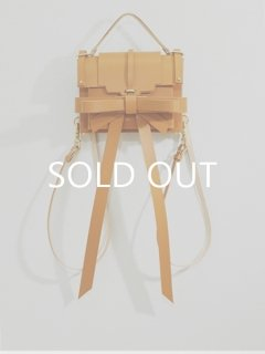 niels peeraer ニールス ペラール RIBBON BACKPACK Msize(caramel)