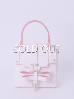 niels peeraer ニールス ペラール BOW BUCKLE 3PM BAG-S (pink)