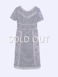 WHOLE9YARDS ホールナインヤーズ PANELED DRESS IN BRODERIE ARGLEAOSE LACE