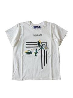 AKIRA NAKA アキラナカ 刺繍カットソー The Plant-A (WH)