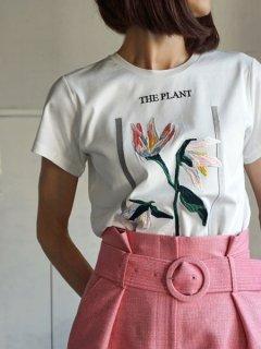 AKIRA NAKA アキラナカ 刺繍カットソー The Plant-B (WH)★