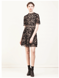 WHOLE9YARDS ホールナインヤーズ DRESS IN  ARGENTAN LACE★sale