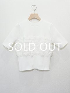 AKIRA NAKA アキラナカ cut inlay pullover (WH)