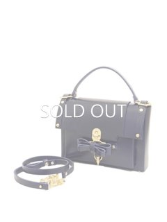 10%OFF★niels peeraer ニールス ペラール BOW BUCKLE BAG  Msize (evening blue)