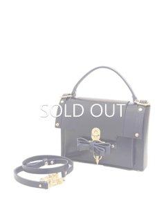 niels peeraer ニールス ペラール BOW BUCKLE BAG  Msize(evening blue)★sale