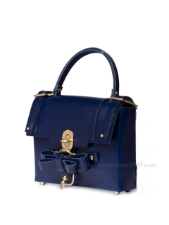 niels peeraer ニールス ペラール BOW BUCKLE BAG  Msize (evening blue)