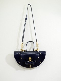 10%OFF★niels peeraer ニールス ペラール BOW BUCKLE ECLPSE BAG evening blue)