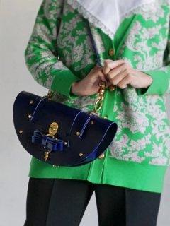 niels peeraer ニールス ペラール BOW BUCKLE ECLPSE BAG evening blue)★sale