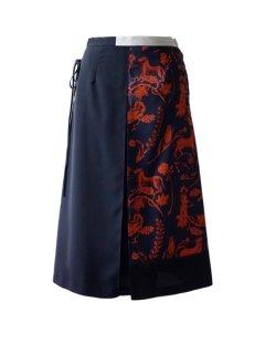 AKIRA NAKA アキラナカ Borjomi レースアップスカート(NVOR )★sale