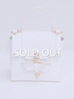niels peeraer ニールス ペラール BOW BUCKLE 3PM BAG-M (white)