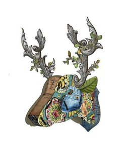 Deer heads wall decor(Eco-friendly)