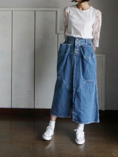 AKIRA NAKA アキラナカ slide panel denim skirt