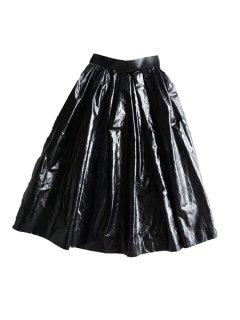 AKIRA NAKA アキラナカ petra skirt 箔コーティングAラインスカート