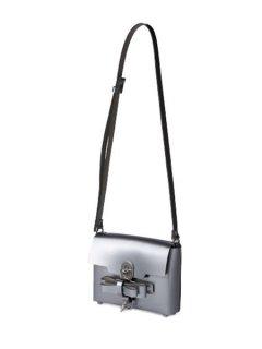 niels peeraer ニールス ペラール BOW BUCKLE SINGLE LAYER BAG (silver)