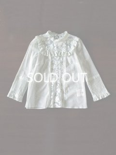 leur logette ルールロジェット Sophie Hallette lace & cotton tulle blouse GR