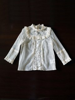 leur logette ルールロジェット Sophie Hallette lace & cotton tulle blouse CR