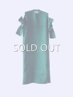 AKIRA NAKA アキラナカ Bella ribbon dress 袖リボンニットドレス(GR)