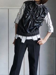 AKIKOAOKI アキコアオキ Gathering sleevless top★sale