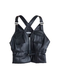 AKIKOAOKI アキコアオキ Army vest ★sale