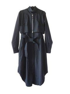 AKIKOAOKI アキコアオキ open shirts dress