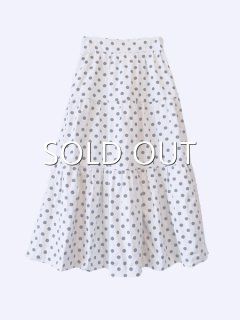 20SS■leur logette ルールロジェット Dots jacqurard skirt