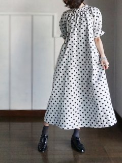 leur logette ルールロジェット Dots jacqurard Dress