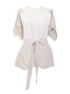 AKIKOAOKI アキコアオキ Handkerchief top BG