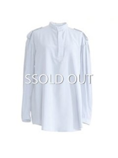 AKIKOAOKI アキコアオキ Epaulet shirts soft BL