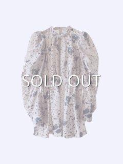 AKIKOAOKI アキコアオキ Quailegg sheer blouse BG