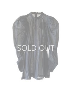 AKIKOAOKI アキコアオキ Plane Sheer blouse BK