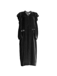 AKIKOAOKI アキコアオキ Velvet dress BK