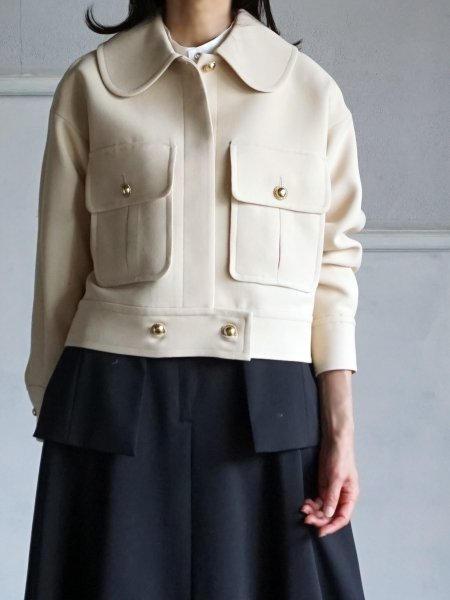 wool triple cloth jacket cream