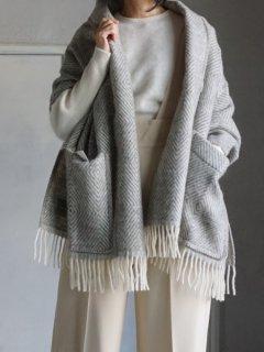 LAPUAN KANKURIT ラプアンカンクリ Pocket shawl MARIA (GY-WH)