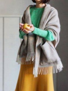 予約 LAPUAN KANKURIT ラプアンカンクリ Pocket shawl MARIA (BR-WH)
