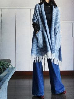 LAPUAN KANKURIT ラプアンカンクリ Pocket shawl IIDA (blue)