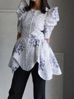 AKIKOAOKI アキコアオキ Maria puff sleeve top