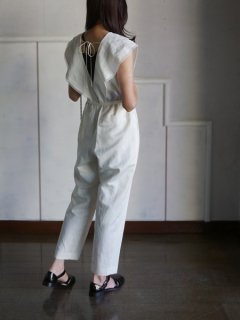 leur logette ルールロジェット couture linen Jumpsuit OFF★sale