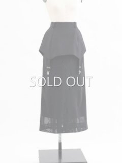AKIKOAOKIアキコアオキ Skirt under the skirt  BK